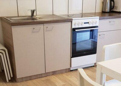 Ubytovna Milovice - Pod Liškami - levné ubytování - kuchyňka